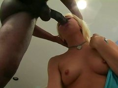 Slutty Goldie Cox calls a big shlong into her room.