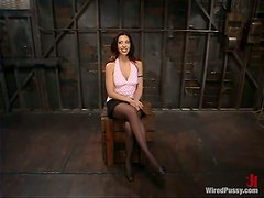 Tory Lane Strapon Fucks Satine Phoenix in Bondage and Femdom Video