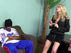 Magnificent Angela Attison Goes Hardcore With A Black Guy