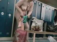 Sexy undressing of amateurs in the locker room