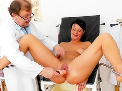 Naughty exam for mature Radana
