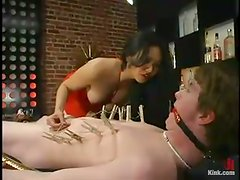 Jamie gets beaten and humiliated by Mika Tan in a bar