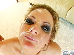 Amazing Petra Pearl Gets A Facial Cumshot After Sucking Too Many Dicks