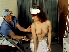 Young sexy nurse whore with good boops gets fucked
