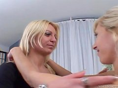 Horny blondies are going to get on each other