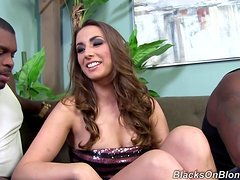 Delightful Paige Turnah Has An Interracial Threesome