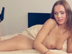 Small-tit chick Sabrina is getting naked
