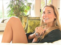 Courtney plays with a dildo and Benwa balls in hot solo sex clip