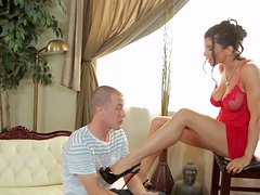 Glorious Romi Rain Goes Really Hardcore With A Horny Boy