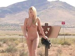Alison Angel enjoys fingering her cunt in the field in solo clip