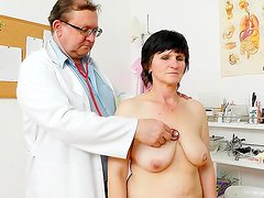 Fatty mature's naughty gyno exam