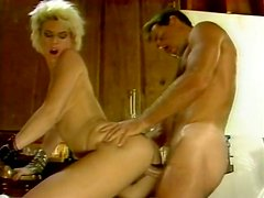 Horny and filthy blonde with nice body gets drilled