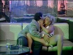 Kinky and filthy blonde with nice tits gives a blowjob