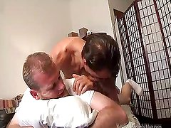 Daddy fucks a hairy ass