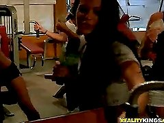 Well shaped sporty latina workout... ass naked (Reality Kings » Money Talks)