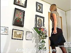 Florence&Lesley naughty anal pantyhose action