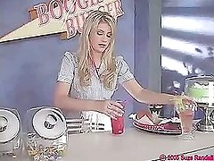 Very cute teen Waitress Lacie Heart (Try something different » Free)