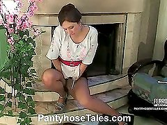 Jaclyn&Mike red hot pantyhose action