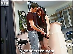 Clementina&Vitas nylon sex action
