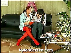 Christiana&Mark horny nylon video