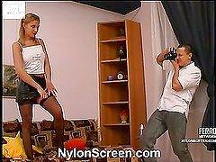 Antoinette&Maurice hot nylon movie