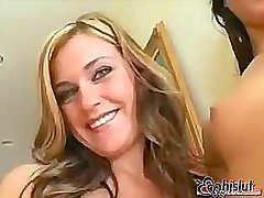Super-sexy vixens McKenzee Miles and Micah Moor share a fat cock