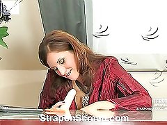 Jaclyn&Harry naughty strapon action