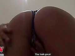 Hot babe fucked in bedroom