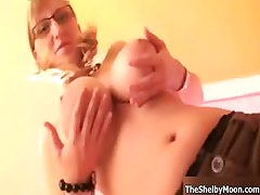 Sexy nerd girl with big natural tits part6