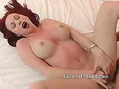 Pale big butt redhead hotel banging