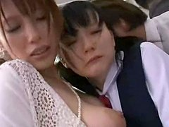 Shy Mother and Daughterl groped and used in a bus