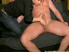 Horny mature housewife treating her hubbie with love