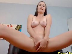 Horny Babe Squirts her Pussy Juices