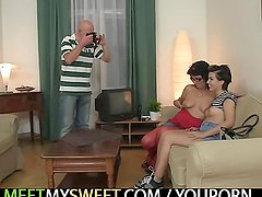 She shoots some nasty pics with his parents