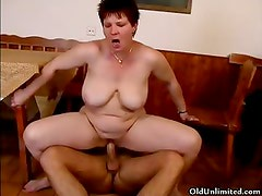 Thick mature mom with big tits gets part5