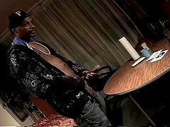 Big-Black-Cock Cums All Over The Table