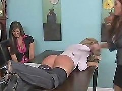 Blonde Spanked and belted