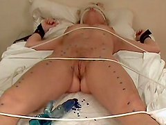 Laura Braley Shaved tied and waxed