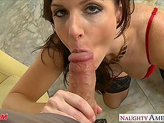 Stockinged mom India Summer gets fucked hard