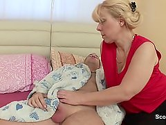 Mom wakes up german step-son to get fuck in ass