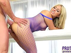 Madelyn Monroe is hotter in fishnet