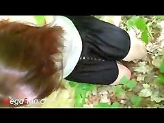 Swallow blowjob in park from girl from online