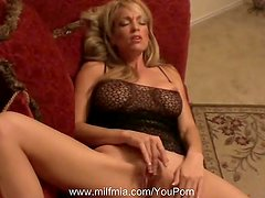 MILF Has Orgasm On Her Couch