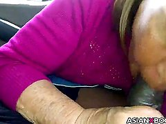 Asian mature gives nice head