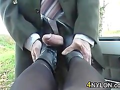 Foot Job With Boots On POV