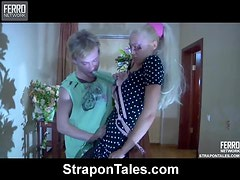 Naughty Babe Must Fuck Her Man With a Strapon