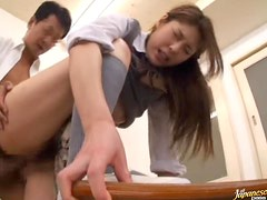 Classroom Threesome With A Horny Asian Teen