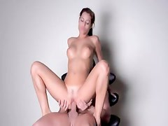 Anal sex with titty brunette babe