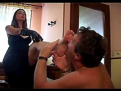 French mistress being obey by her slave - Java Productions