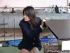 Amazing Asian schoolgirl shows off her part5